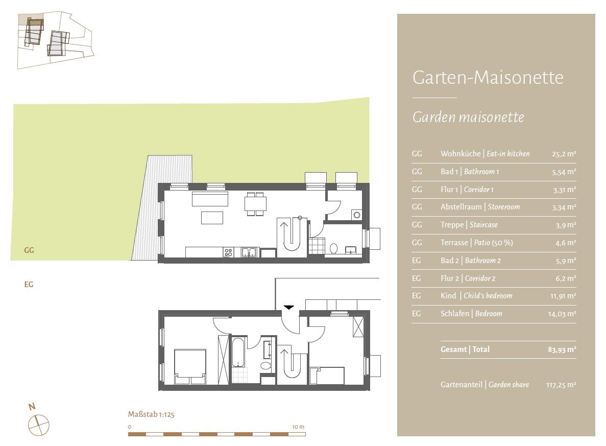 Garten-Maisonette