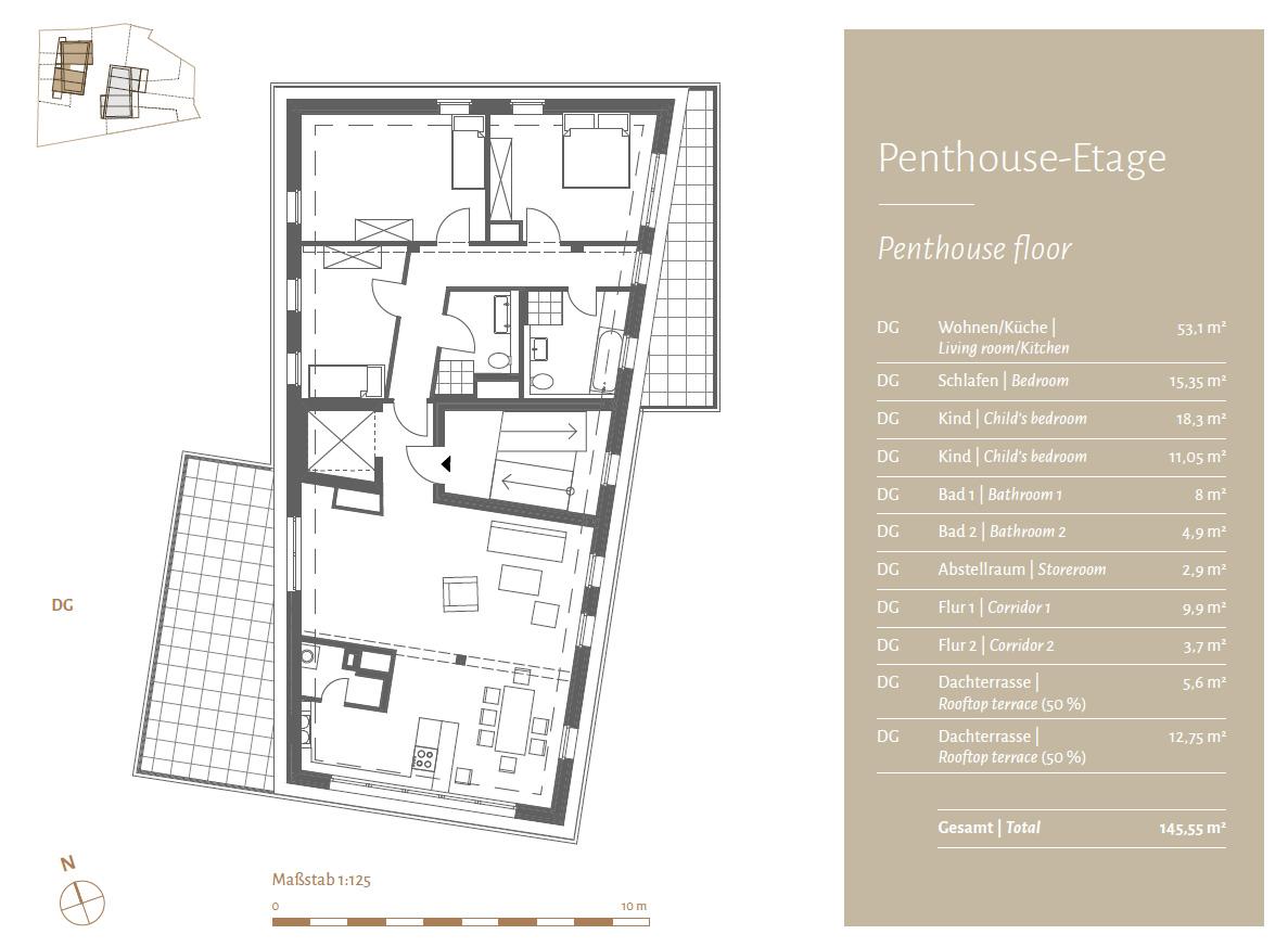 Penthouse-Etage